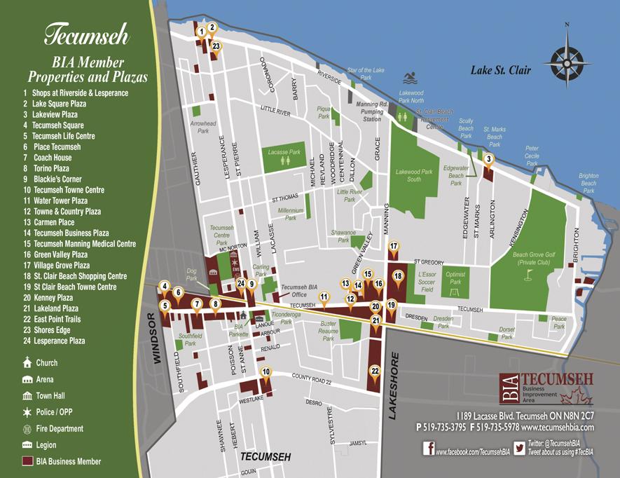 Tecumseh BIA map