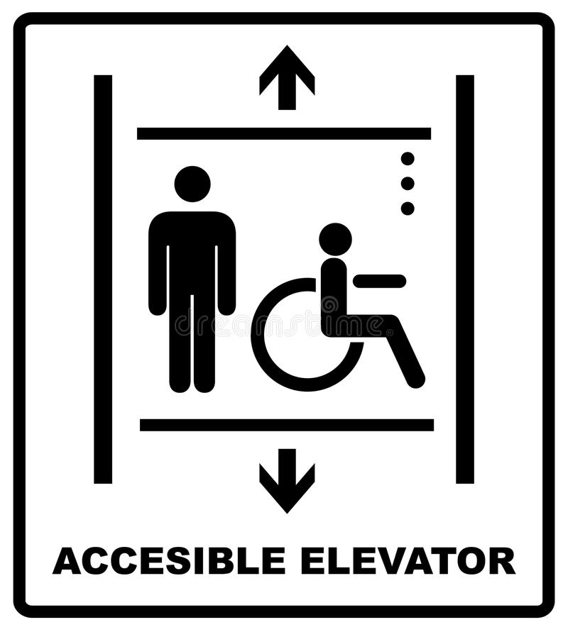 accessible elevator sign