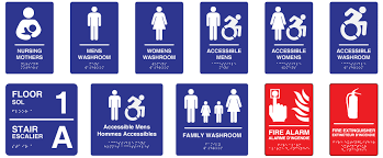 accessible signage icon