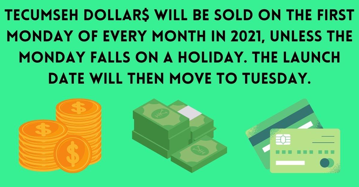 Tecumseh Dollars Ad- Launch Date
