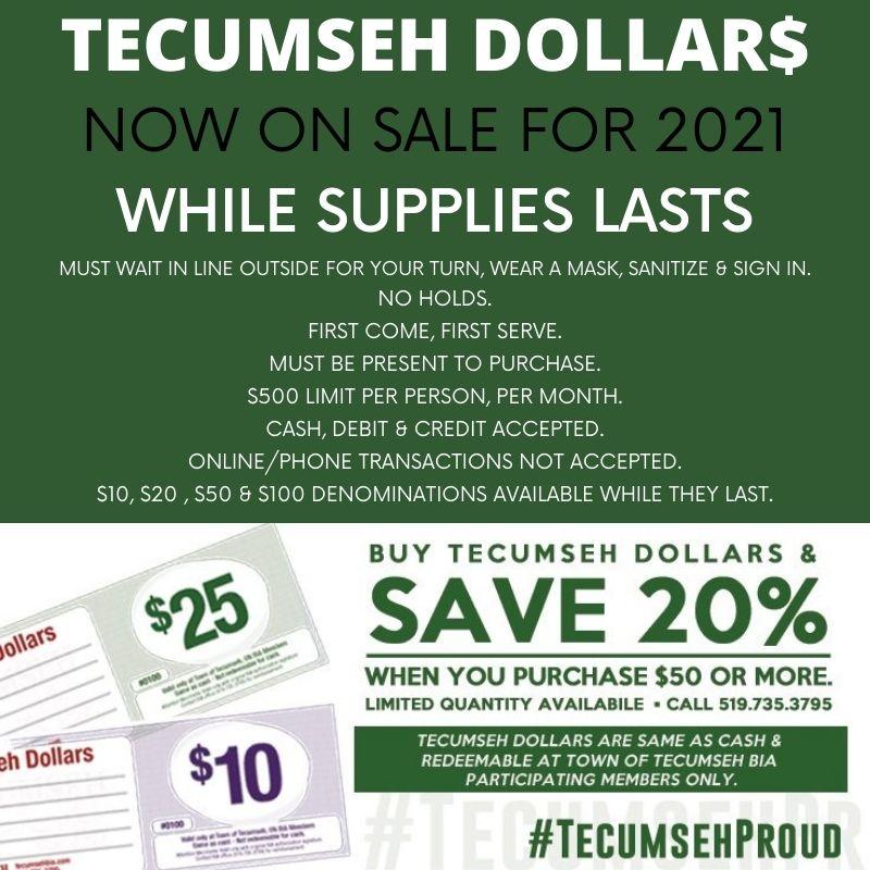 Tecumseh Dollars Ad- Revised 2