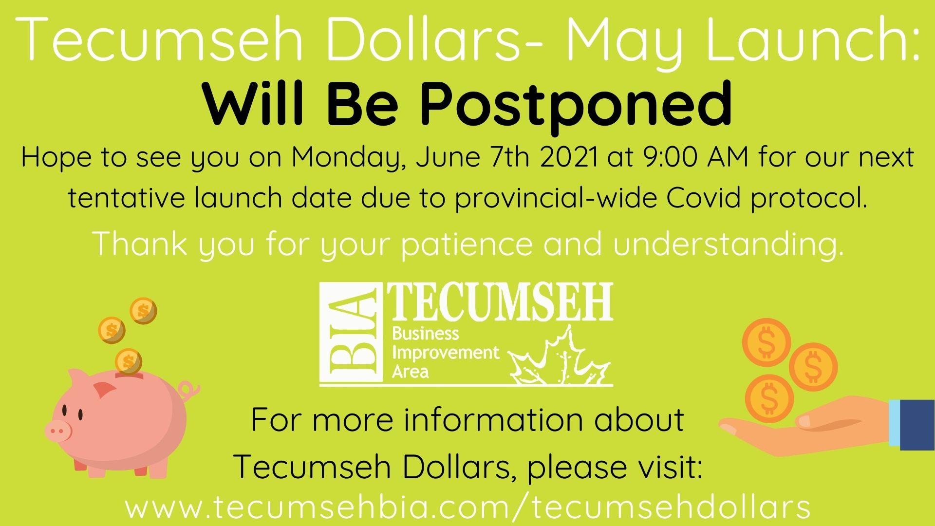 Tecumseh Dollars- Postponed